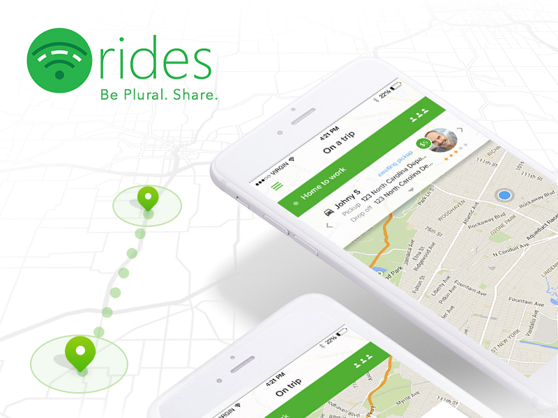 Software Carpooling App - Rides - Be Plural. Share.